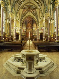 My husband did the marble work on this Baptismal Font at Cathedral of the Madeleine