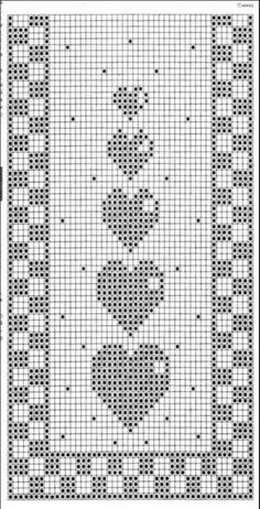 Crochet / table runner / grandma blanket German, English and Italian - woolly .Crochet / table runner / grandma blanket German, English and Italian - woolly things! Crochet Bookmark Pattern, Crochet Bookmarks, Afghan Crochet Patterns, Crochet Stitches, Stitch Patterns, Crochet Table Runner Pattern, Crochet Tablecloth, Crochet Doilies, Filet Crochet Charts