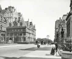 The Vanderbilt Mansion in New York, once stood at 57th St. and Fifth Ave., the base of what is now Central Park. This was the home of Cornelius Vanderbilt II, built in 1883 and stood until 1926. Cornelius was the eldest grandson of Commodore Vanderbilt. Feeling that others were trying to outdo his house, he bought all the property on the 5th Avenue block. He then hired George B. Post and Richard Morris Hunt to construct a much larger mansion, filling the entire block front. It was and still…