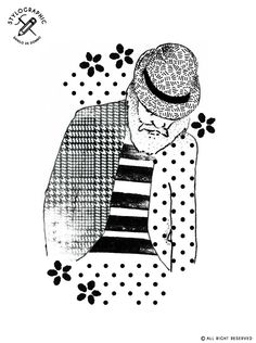 stylographic #illustration made by www.danilodedonno.com #fashion #graphicdesigner #freelance #poster #pitti #man #menswear #outfit #dress #jacket #gentlemen #beard #stripes #dots  #pieddepoule #flowers #pattern #design #moda #poster #print #art #drawing #digitalart #digitalprint #modern #minimal #elegance #style #man   © ALL RIGHT RESERVED