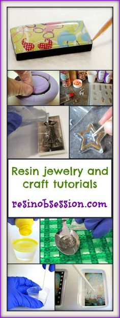 Lots of tuts for resin jewelry and resin crafts Resin Crafts, Resin Art, Jewelry Crafts, Diy Crafts, Diy Schmuck, Schmuck Design, Diy Projects To Try, Craft Projects, Resin Jewelry Making