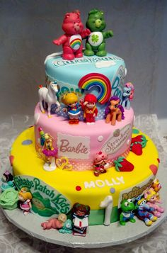 80's themed character cakes - yeah, this is all kinds of awesome. I would LOVE to have an 80's-themed cake.