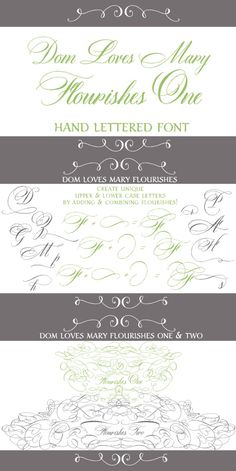Dom Loves Mary Flourishes One. Script Fonts. $19.00