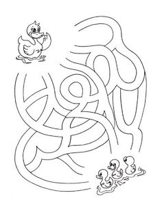 Montessori Math, Preschool Learning Activities, Kids Learning, Coloring Book Art, Coloring For Kids, Coloring Pages, Child Development Psychology, Puzzles Für Kinder, Maze Worksheet
