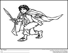 The Hobbit Coloring Pages Bilbo Baggins