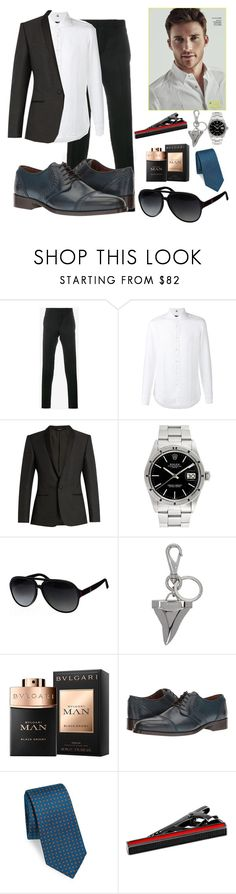 """Evans Bellator from the Assistant on Wattpad"" by autumprincess ❤ liked on Polyvore featuring Givenchy, FAY, Dolce&Gabbana, Rolex, Gucci, Bulgari, Etro, Kiton and Tateossian"