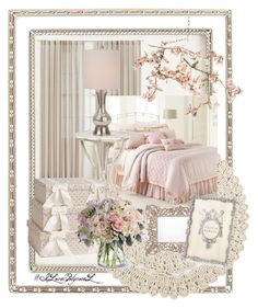 Guest Bedroom 11 by creativealonemoments on Polyvore featuring polyvore interior interiors interior design home home decor interior decorating Canopy Designs LC Lauren Conrad Haffke Crate and Barrel Olivia Riegel Anthropologie bedroom ILovePolyvoreL