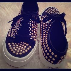 SUPERGA Gold Studded Sneaker Worn only a few times, still look brand new. Smoke and pet free home Superga Shoes Sneakers