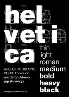 Explaining variations of Helvetica | Whitecoffeekaw