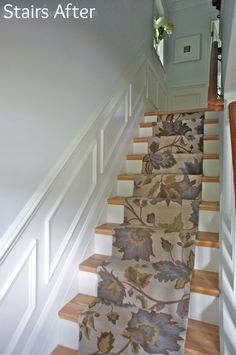 how to remove carpet from your stairs, add wood finish & a stair carpet runner.Stairway to Heaven Stairs, Home, Stair Remodel, Stairway To Heaven, House, Stairway Carpet, Home Projects, Stairways, Stairs Colours