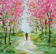 Original oil painting Spring Romance by Karen by Karensfineart