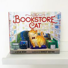"""I have a new favorite bookish cat (in addition to my own, real life, fluff ball of course 😉) and it's this precocious feline from new release """"The Bookstore Cat"""". The whole book features him in all his kitty glory along with each letter of the alphabet. It's simple, bookish and utterly adorable. What's not to love?  📸 @book.nerd.mommy"""