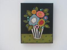 Original Flower Painting by Polkadotdoorstudio on Etsy