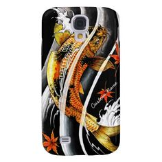 Cool oriental japanese Gold Lucky Koi Fish tattoo Samsung Galaxy S4 Cover #samsungs4 #galaxys4 #galaxy #smartphone #case #cover #japan #japanese #oriental #customizable #gift