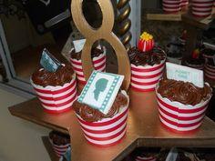 DGV: movie party cupcakes on a custom star stand. Birthday Bash, Birthday Parties, Party Cupcakes, Movie Party, Deserts, Party Ideas, Star, Boys, Vintage