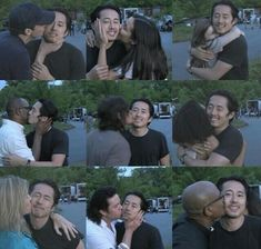 Steven Yeun (Glenn Rhee) says goodbye to his Walking Dead cast members Memes The Walking Dead, Walking Dead Tv Show, Fear The Walking Dead, Glenn Walking Dead, Walking Dead Zombies, Daryl Dixon, Norman Reedus, Glenn Y Maggie, Steven Yuen