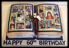 Family photo album cake