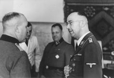 Heinrich Himmler in his headquarters in Hegewald (Huiva, Zhytomyr oblast, Ukraine).