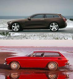Volvo Concept Estate & Volvo Love the side-by-side comparison. Volvo Wagon, Volvo Cars, Volvo 850, Ferrari, Shooting Break, Sports Wagon, Classy Cars, Ex Machina, Bugatti