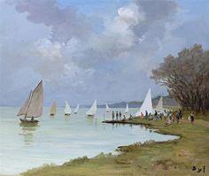 """Marcel Dyf, """" Voiles sur la Seine"""""""
