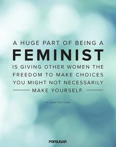 Read Lena Dunham's quote on feminism, then check out more of the best celebrity quotes!