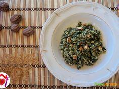 Risotto con spinaci, noci e puzzone di Moena  #ricette #food #recipes