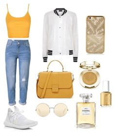 """Untitled #5"" by natashazein on Polyvore featuring Topshop, Antipodium, WithChic, Victoria Beckham, Milani, Essie, Chanel and adidas"
