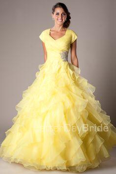 a pretty yellow modest dress :)