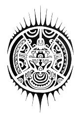Polynesian Tattoo Symbols | Polynesian tattoo design with quite a lot basic symbols.