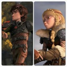 Hiccup and Astrid and their similar goofy faces! :p
