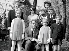 Kennedy Consciousness: The late Robert F. Kennedy with his wife, Ethel, and seven of their then eight children at an outing at the Bronx Zoo in 1964