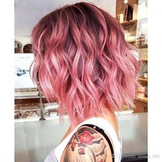 Ombre Black pink Natural Straight Medium Short Cut Bob human hair wigs for black women lace front wigs - Frisuren Pink Grey Hair, Bright Pink Hair, Pink Ombre Hair, Blonde With Pink, Hair Color Pink, Pink Short Hair, Short Colorful Hair, Ombre Bob Hair, Rose Pink Hair