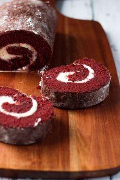 Red Velvet Roulade   Marsha's Baking Addiction