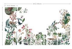 Bahamas, Small – The Pattern Collective Wall Painting Flowers, Pool House Interiors, Art Tropical, French Pattern, Interior Wallpaper, Wallpaper Naruto Shippuden, Plant Illustration, Wall Patterns, Wall Murals