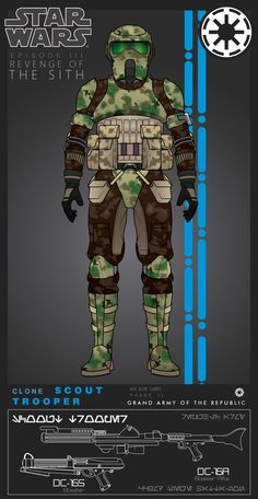 Clone Scout Trooper by on DeviantArt Star Wars Droids, Star Wars Rpg, Star Wars Clone Wars, Star Wars Pictures, Star Wars Images, Star Wars Characters, Star Wars Episodes, Stormtroopers, Guerra Dos Clones