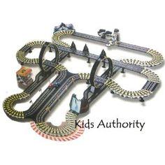 Kids Authority Life Like Mega Track set , Slot car racing set - 40 ft of track coupon Slot Car Racing Sets, Slot Car Tracks, Slot Cars, Race Cars, Train Tracks, Toy Race Track, Kids Shows, Electric Cars, James Bond
