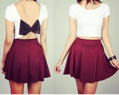 Cute bow outfit