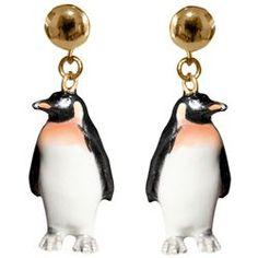 Boucles d'oreilles pingouin - 54€