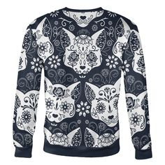 Now available on our store Sugar Skull Cats ... Check it out here!  http://hi-siena.com/products/sugar_skull_cats_sweatshirt?utm_campaign=social_autopilot&utm_source=pin&utm_medium=pin