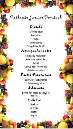 Jantar Tropical - Local & Cardápio :: LaConfraria Its My Bday, Lilo And Stitch, Buffet, Party, Holiday, Menu, Food, Luau Party, Retro Party