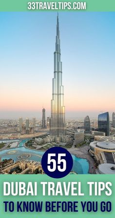 On this list, you'll find 33 fun facts about Dubai. From the records of its futuristic structures to the crazy rules, discover all you need to know about Dubai. | Dubai Facts | facts about Dubai | #dubai #dubaitravel #dubaifacts Dubai Travel, Burj Khalifa, Futuristic, Fun Facts, Travel Tips, Bratislava, Central Asia, Capital City, Lisbon
