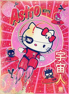Sanrio Hello Kitty LA show print and painting Bedroom Wall Collage, Photo Wall Collage, Picture Wall, Cute Poster, Poster Wall, Poster Prints, Photowall Ideas, Vintage Cartoons, Vintage Disney Posters