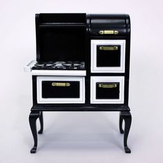 Dollhouse Miniature 1920s Kitchen Stove Cooker Oven 1:12 Scale Furniture #TownSquareMiniatures: