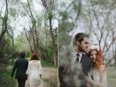 Bride & Groom Photo Shoot: Bohemian Romance In The Woods