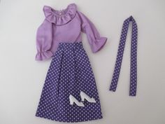 Vintage Lilli Babs Wendy Barbie Clone Skirt Top Outfit Mint Never on Doll   eBay