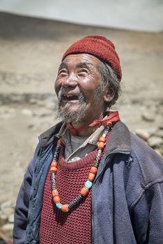 The Smiling Nomad from Tsokar, Ladakh, India