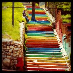 Colorful Stairs, Ramallah