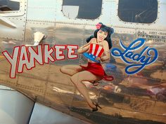 WWII Bomber Nose Art - Yankee Lady