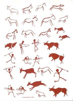 Prehistoric Age, Stone Age Art, 7 Arts, Cave Drawings, Prehistory, Art Classroom, Native American Art, Art Plastique, Elementary Art