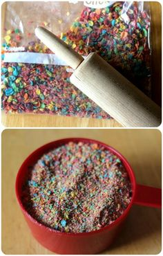 Fruity pebble buttercream icing or filling